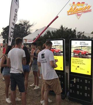 Estacion de carga para festival o evento