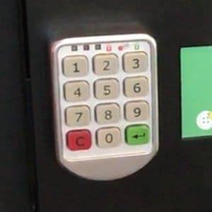 Cerradura de código PIN digital para locker de carga de celulares