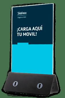 Cargadores de celulares para salas de espera
