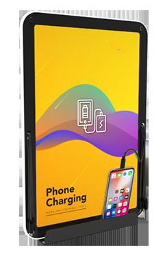 Estación de carga fija para celulares en eventos