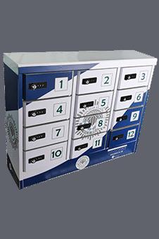 Taquilla de carga con código PIN para tiendas retail