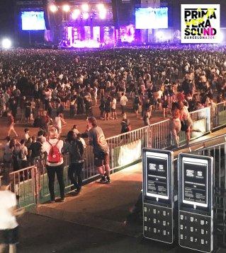 Estaciones de carga de celular para festivales o eventos