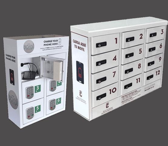 Taquillas para cargar celulares en hoteles